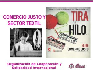 thumbnail of Comercio Justo y sector textil OCSI