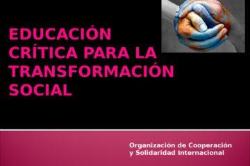 thumbnail of Educación Crítica para la TRansformación Social OCSI