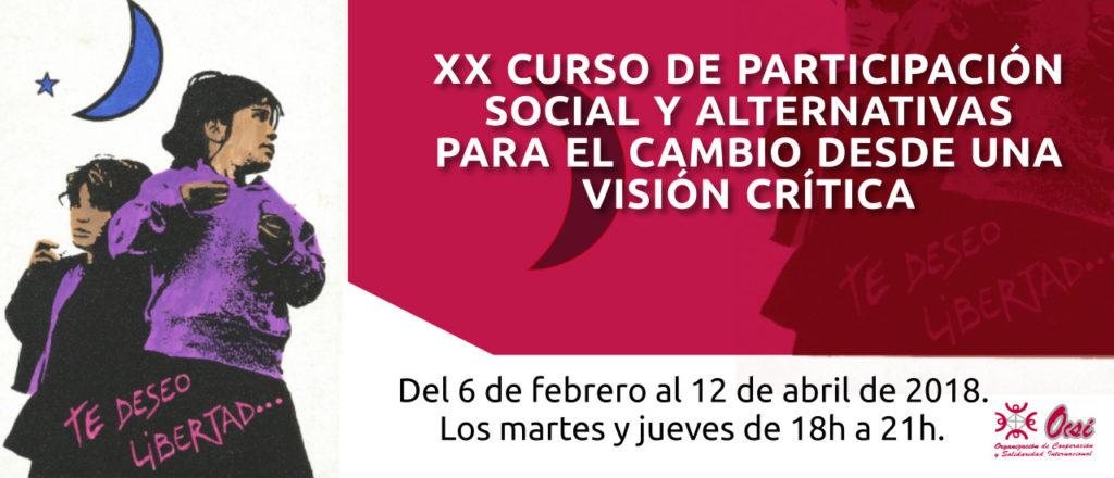XX Curso de Participación Social y alternativas para el cambio desde una visión crítica